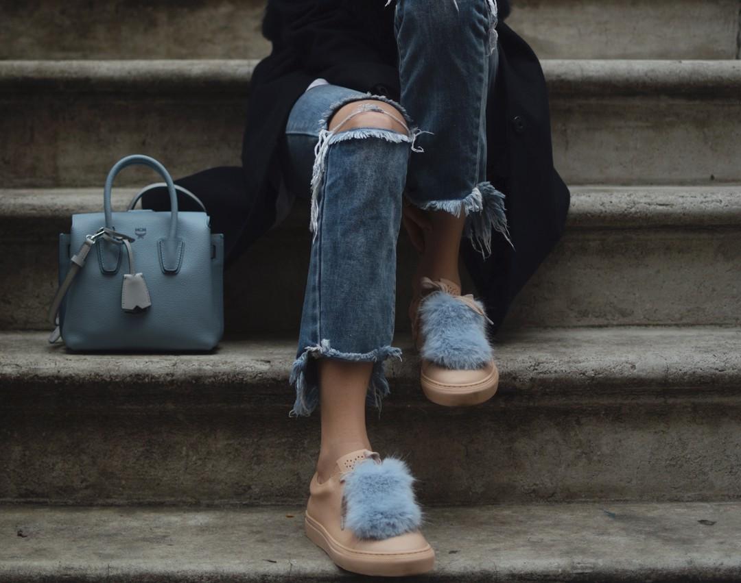 Elizabeth Street & Ripped Denim Jeans - Ays Yuva